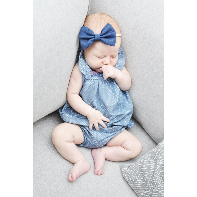 Baby Wisp - Baby Headband Denim Bow