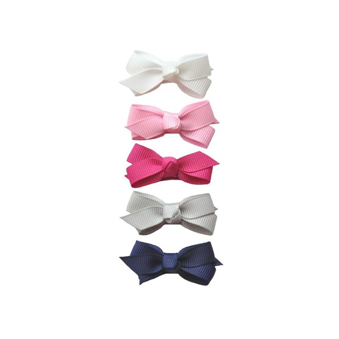 Baby Wisp Chelsea Boutique Bow 5pk Snap Clip - Prep Girl