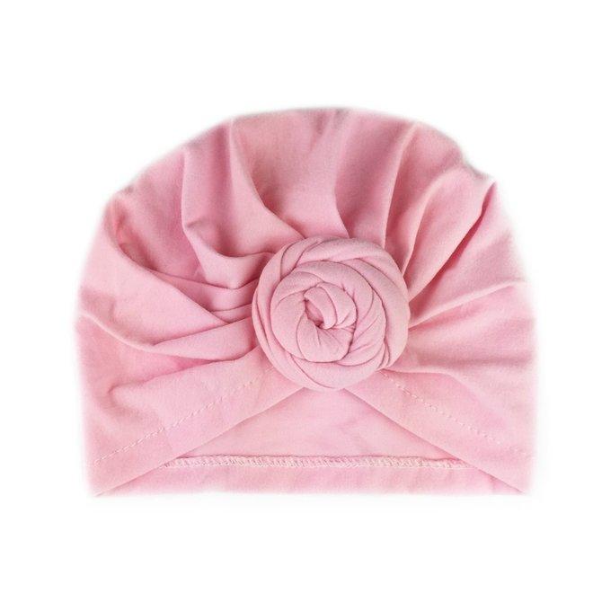 Baby Wisp - Turban Knot Hat - Light Pink