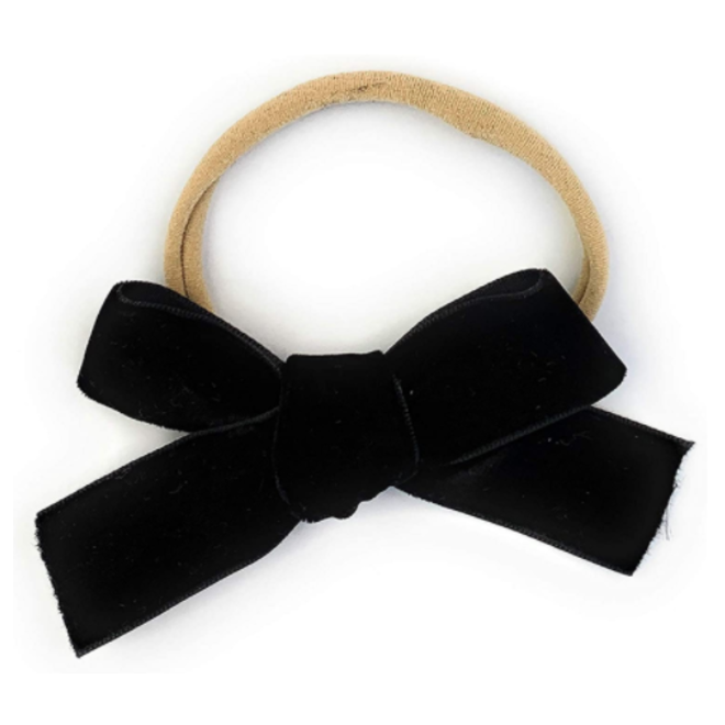 Baby Wisp - Headband - Velvet Bow - Black