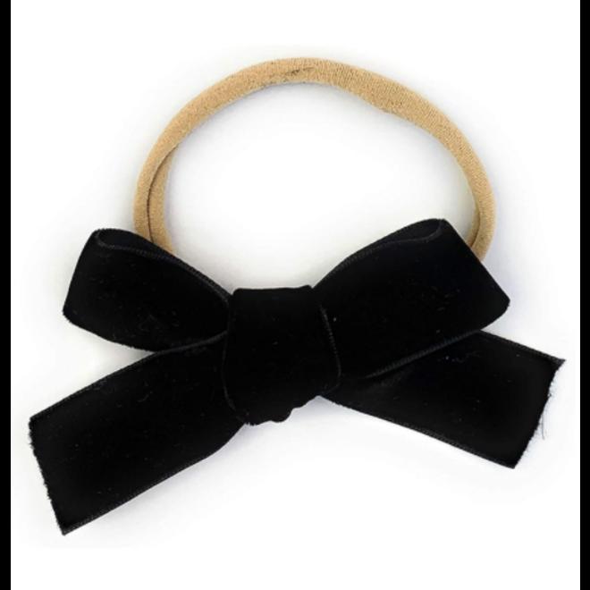 Baby Wisp - Headband - Velvet Bow - Black