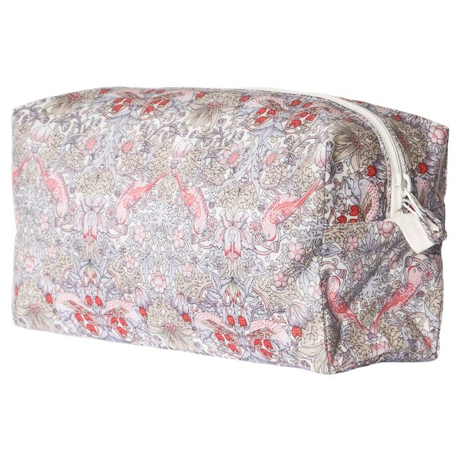 Bonpoint Pink Floral Bird Print Wash Bag