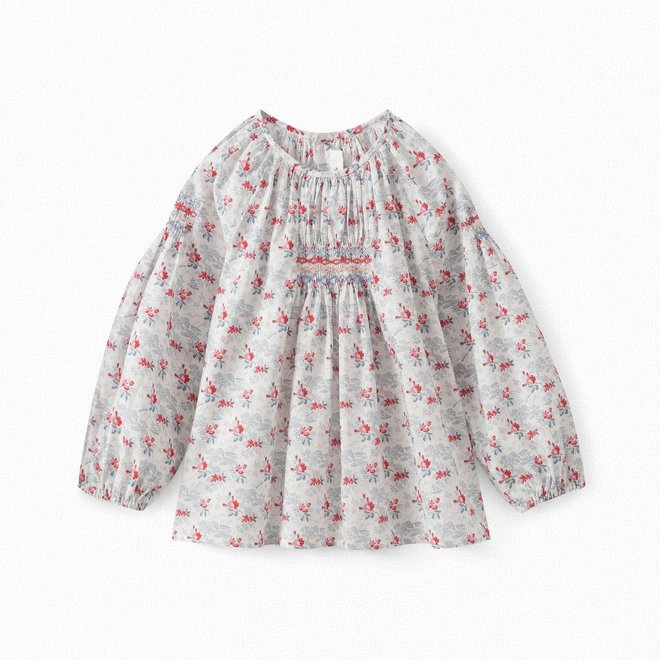 Girls' Liberty Blouse Natural White