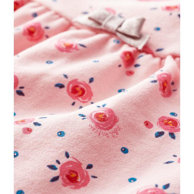 Baby girl's long-sleeved dress-pink flower