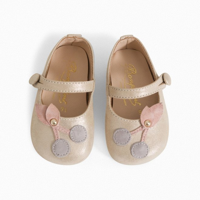 Ballerinas With Cerise Straps For Toddlers