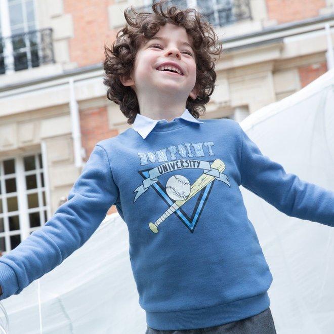 Boys' Silkscreen Sweatshirt Blue