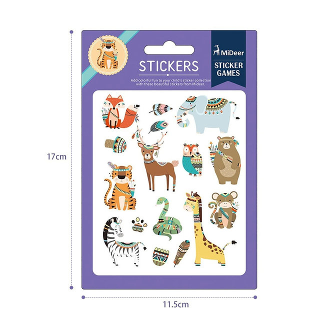 Colourful Stickers - Wild Animal