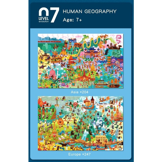 Advanced Puzzle - 07 Geography 451 pcs