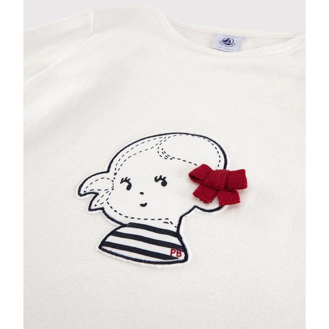 Girls' Short-Sleeved Cotton T-Shirt Bowl Girl