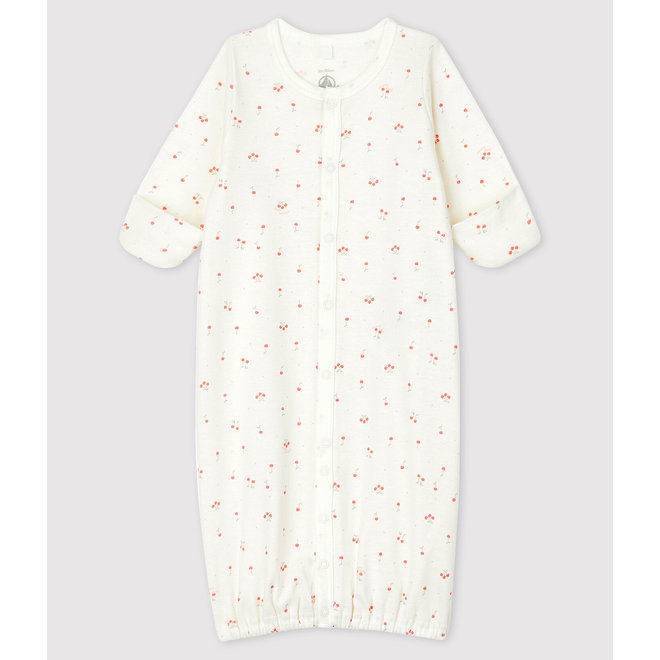 Babies' Boat Pattern Organic Cotton Jumpsuit/Sleeping Bag Cherry