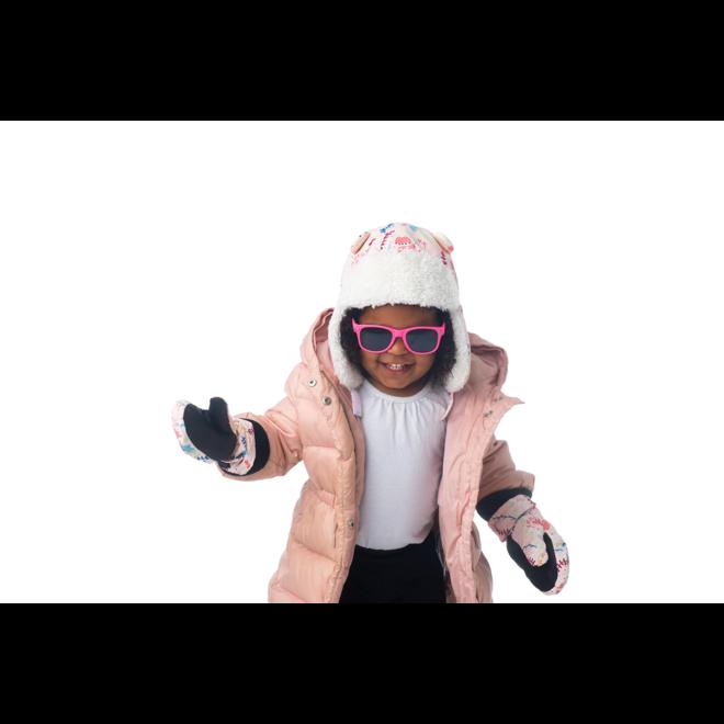 Flapjacks Water Repellent Trapper Hat Floral Pink