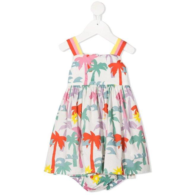 Stella Mccartney BABY GIRL SLEEVELESS MULTICOLOR PALMS DRESS