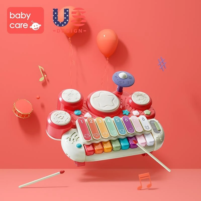 BABYCARE BABY PIANO DRUM RED