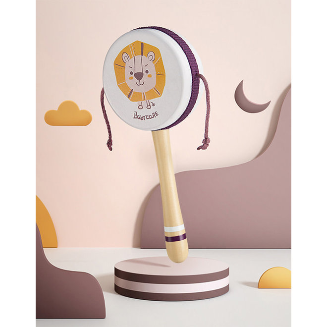 BABYCARE BABY RATTLE DRUM WHITE