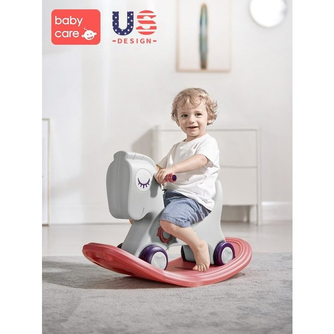 BABYCARE 3-IN-1 ROCKING HORSE GREY