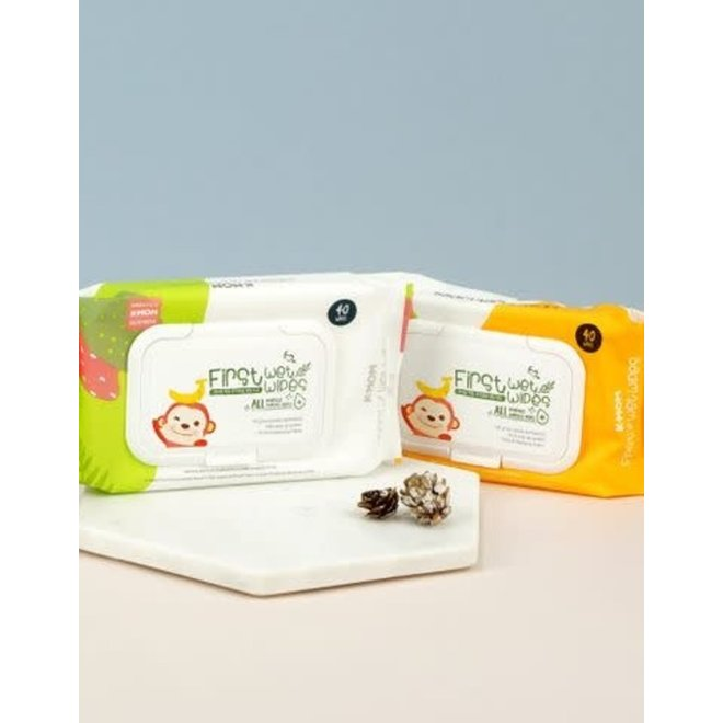 K-MOM FIRST ALL PURPOSES SURFACES WIPES 40PCS W/CAP