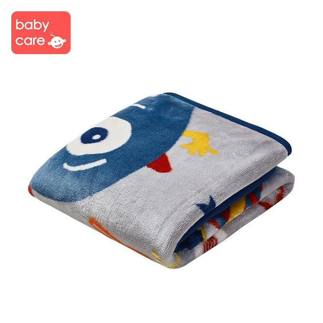 BABY CARE COZY DUAL LAYER BLANKET BEASTS 90X100CM