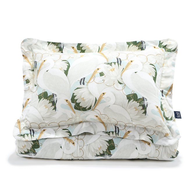 "BEDDING SET WITH FILLING ADULT ""XL"" - HERON IN CREAM LOTUS"