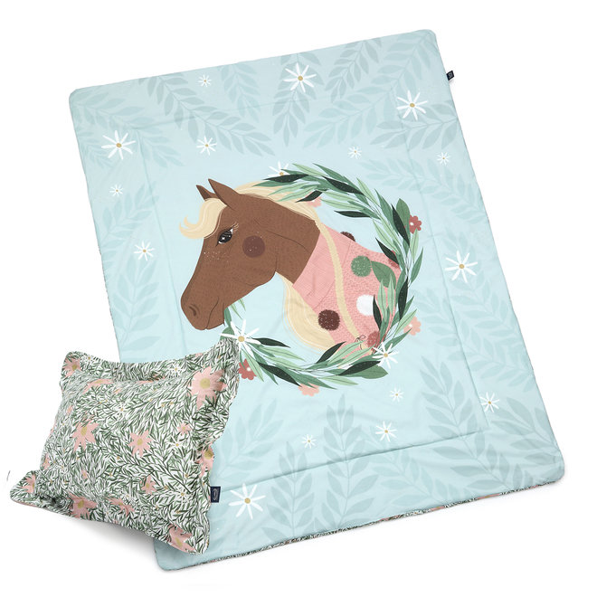 "BEDDING SET WITH FILLING ADULT ""XL"" - PONY IS MY LOVE & PONY MEADOW"