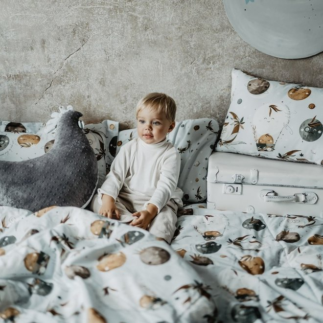 """BEDDING SET WITH FILLING TODDLER """"L"""" - UNIVERSE OF UNICORN & UNIVERSE"""