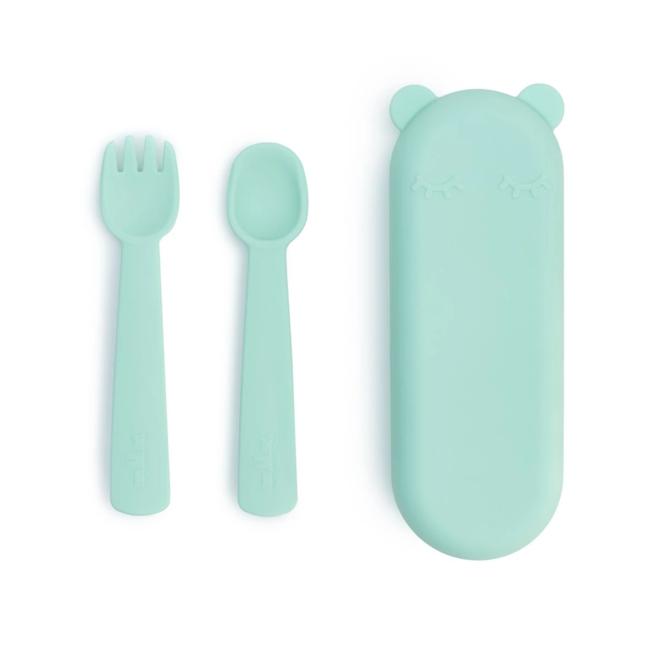 Feedie Fork and Spoon Set - Mint