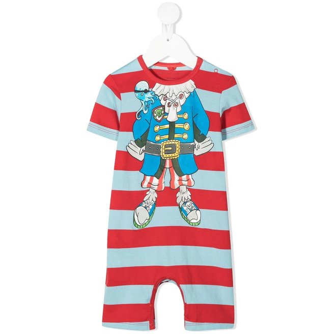 Baby Boy SS Striped Jumpsuit With Pirate