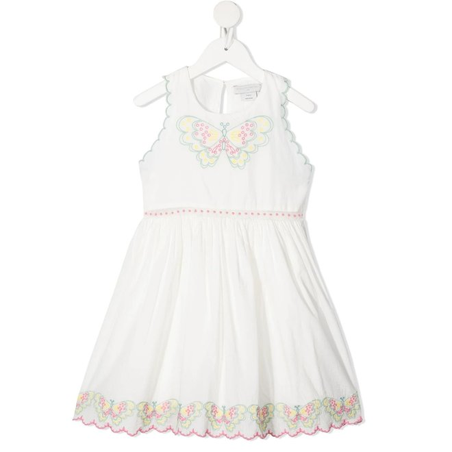 Kid Girl Sleeveless Dress With Butterfly Emb