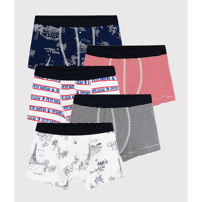 Boys' Toile de Jouy Paris Vests - 5-Pack