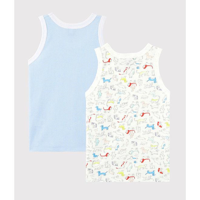 Boys' Animal Print Organic Cotton Vests - 2-Pack
