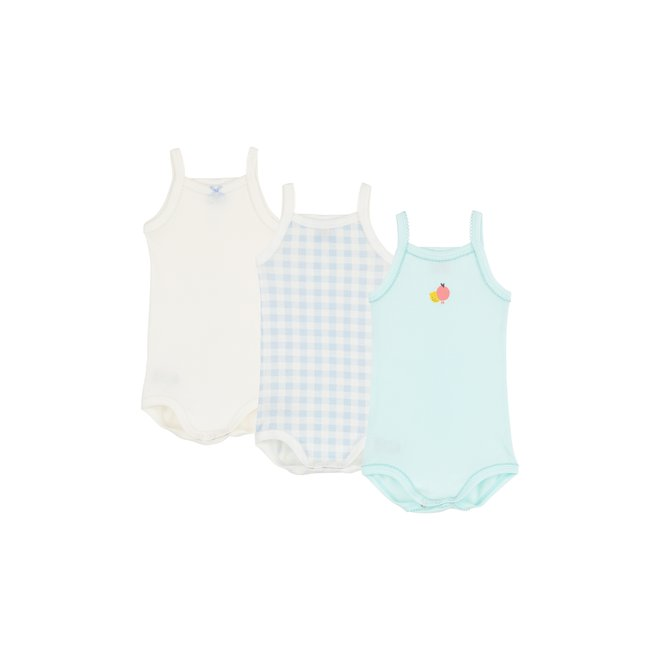 Fruit Sleeveless Organic Cotton Bodysuits - 3-Pack