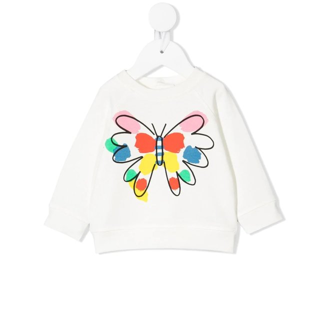Baby Girl Sweatshirt With Butterfly Graphic