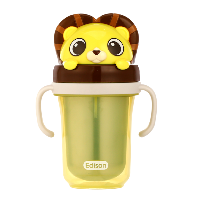EDISON FRIENDS DUAL STAINLESS STRAW CUP2 LION