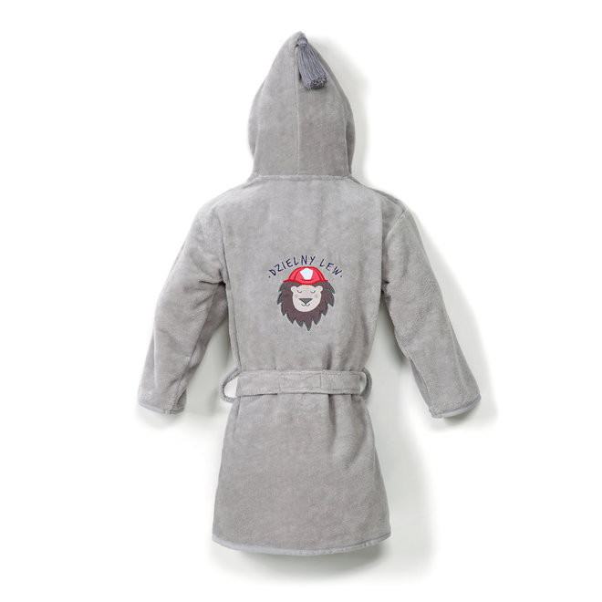 BATHROBE BAMBOO SOFT - GREY - BRAVEHEART LION