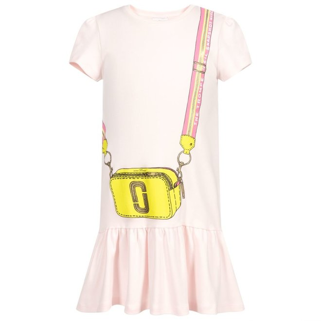 Graphic-Print Short-Sleeved Dress