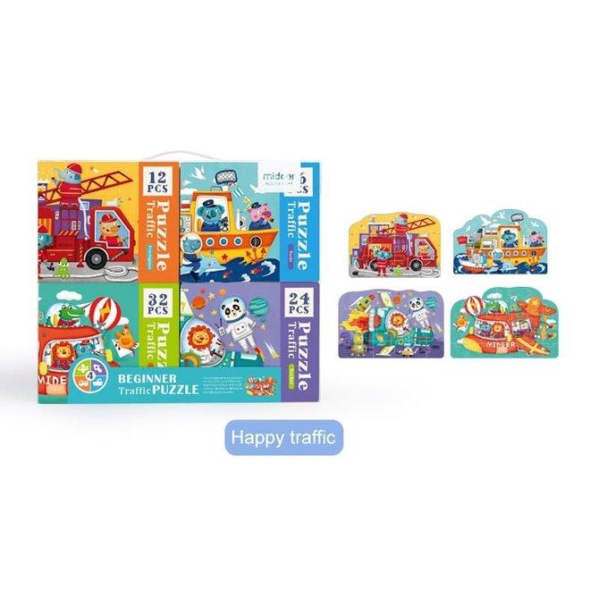 4 in 1 Puzzle - Traffic