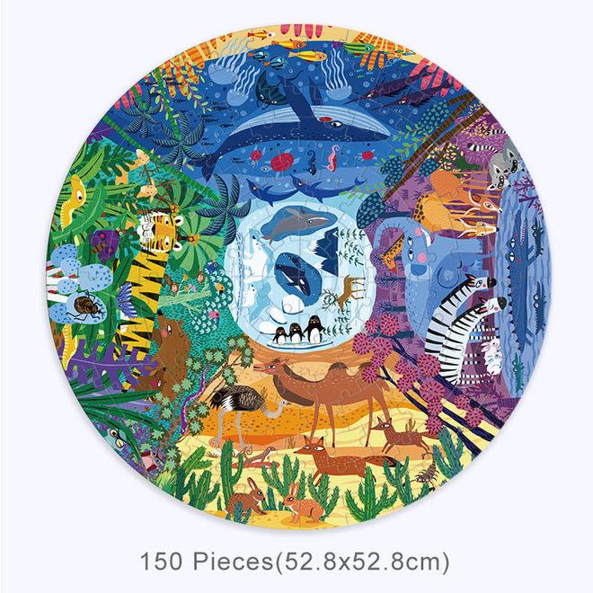 Circle Puzzle - Animals Around The World 150 pcs