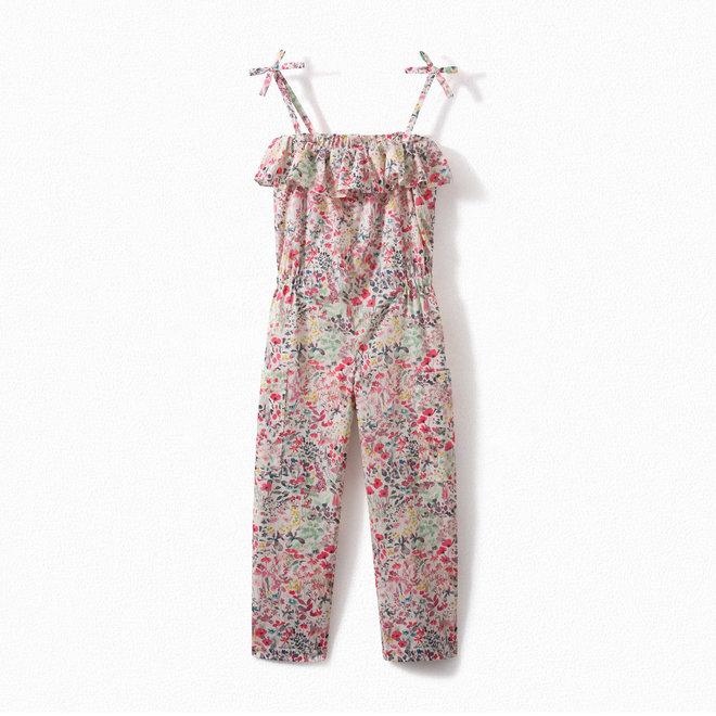 Girls' Liberty Fabric Romper Raspberry