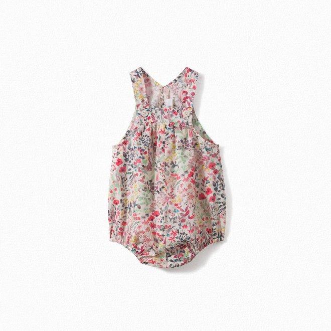 Baby Liberty Cotton Overalls Raspberry