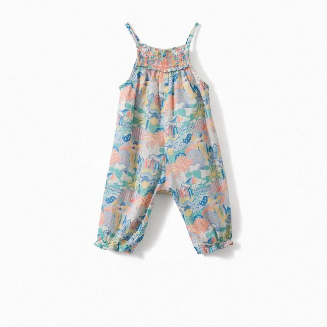 Exclusive Liberty Print Baby Overalls Multicolored