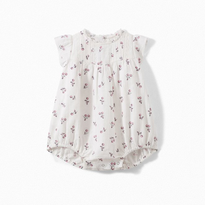 Baby Cotton Romper Printed Pink
