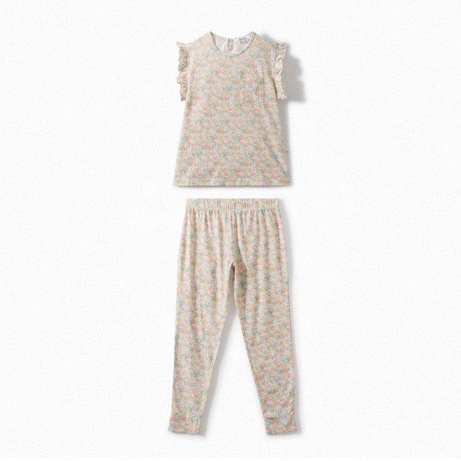 Girls' Liberty Fabric Pajamas Camellia Pink FL Rose Camelia