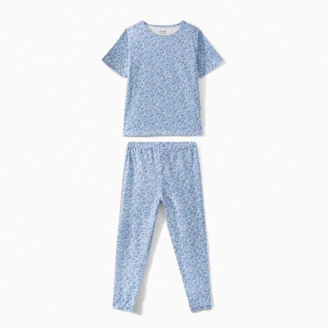 Boys' Liberty Jersey Fabric Pajamas Medium Blue