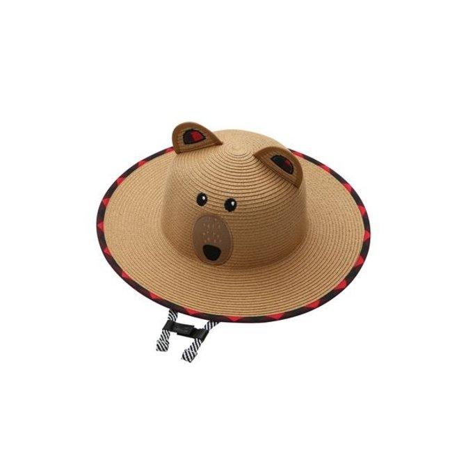 FlapJackKids - Kids' Straw Hat - Bear