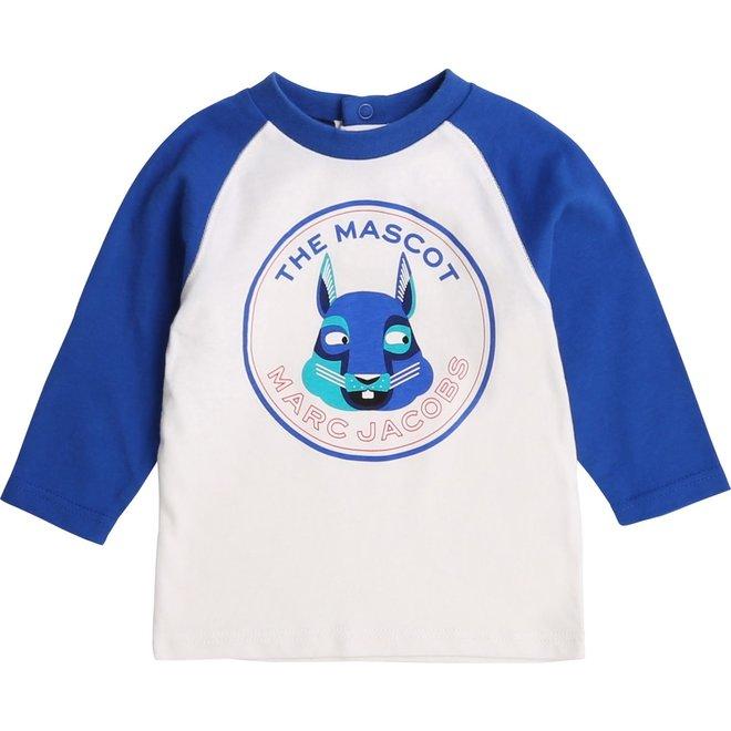 LMJ The Mascot Graphic-Print T-Shirt White/Blue