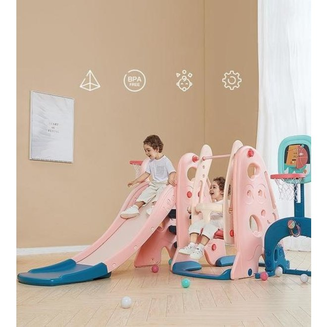 BABYCARE FIVE-IN-ONE SLIDE PINK