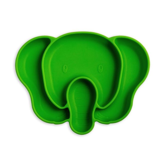 Suction Plate Green Elephant