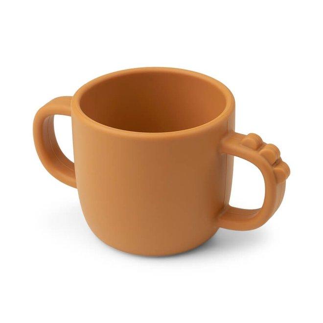 Done by Deer Peekaboo cup Croco Mustard
