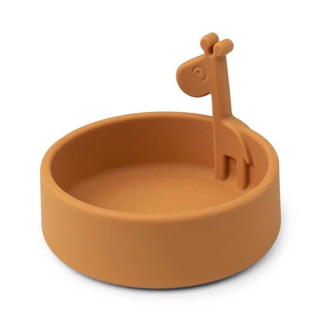 Done by Deer Peekaboo bowl Raffi Mustard