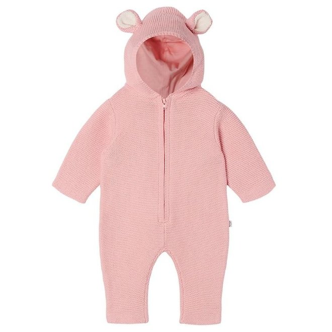 BABY GIRL DOGGY KNIT JUMPSUIT PINK