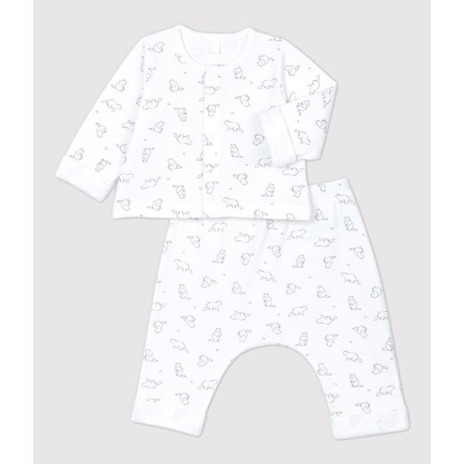 BABIES' MARMOT PATTERNED ORGANIC COTTON CLOTHING - 2-PACK